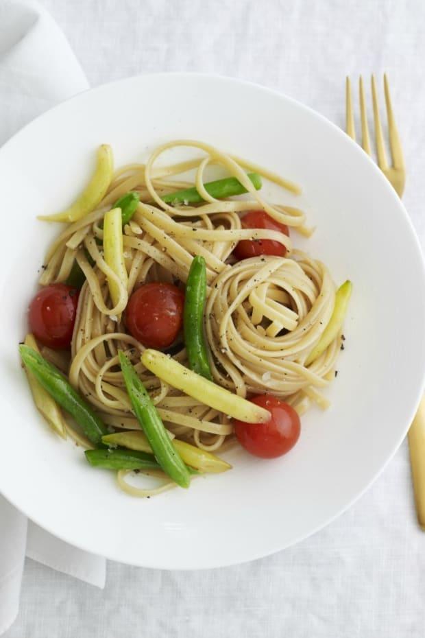 grilled vegetable linguini