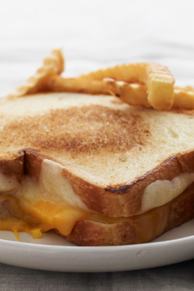 Double Grilled Cheese with Seasoned French Fries