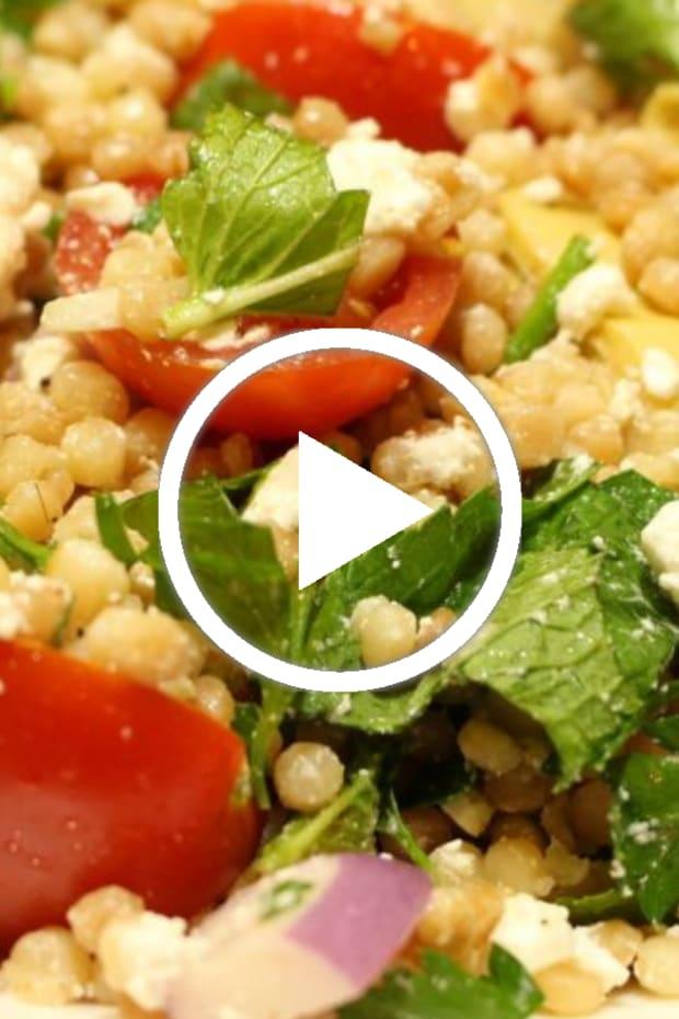 Mediterranean salad with ptitim video