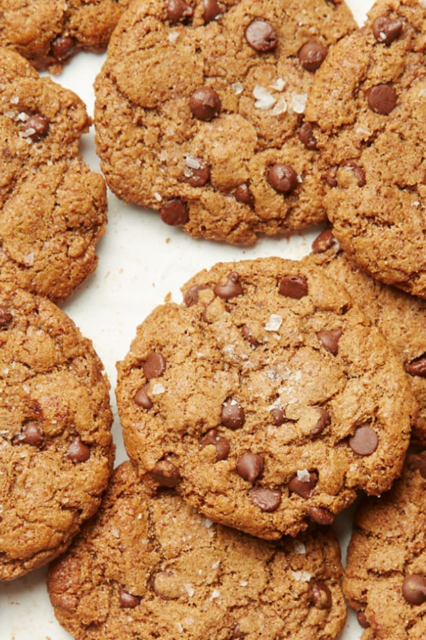 Almond Butter and Sea Salt Chocolate Chip Cookies