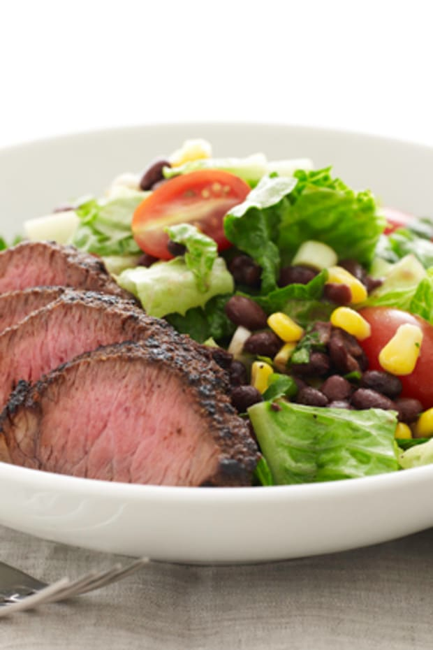Southwestern Steak Salad with Cilantro Lime Dressing