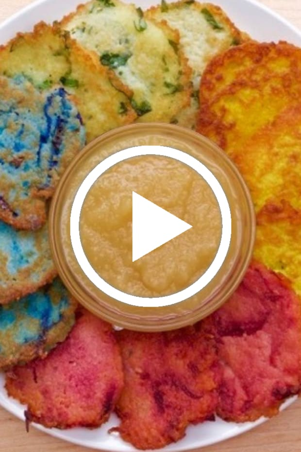 jewlish rainbow latkes featured