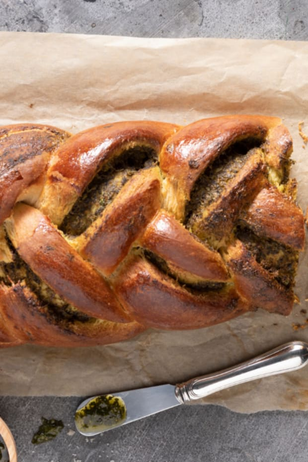 Pesto Stuffed Challah