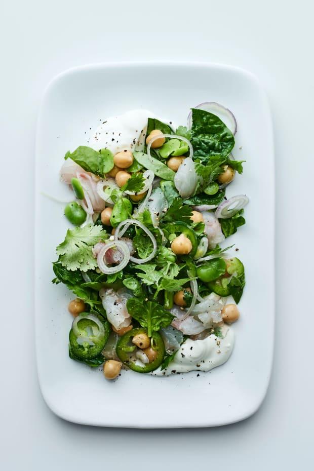 sea bass salad