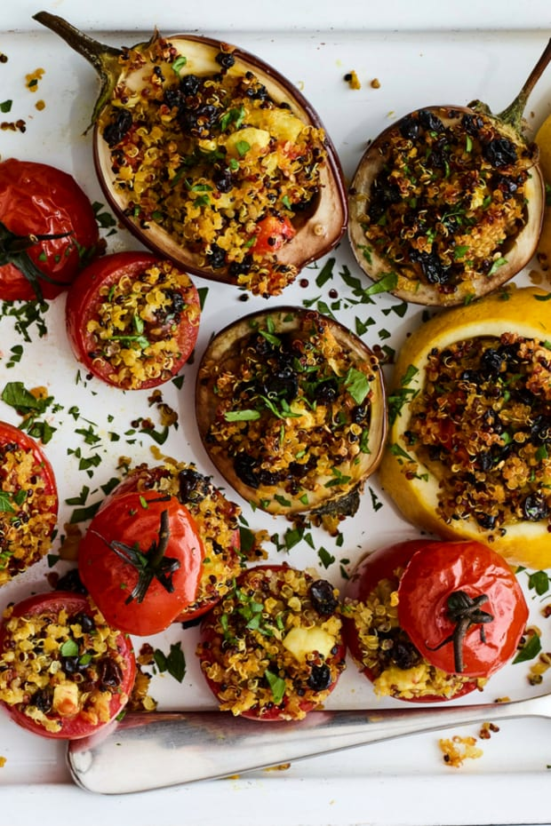 Quinoa Stuffed Roasted Tomatoes
