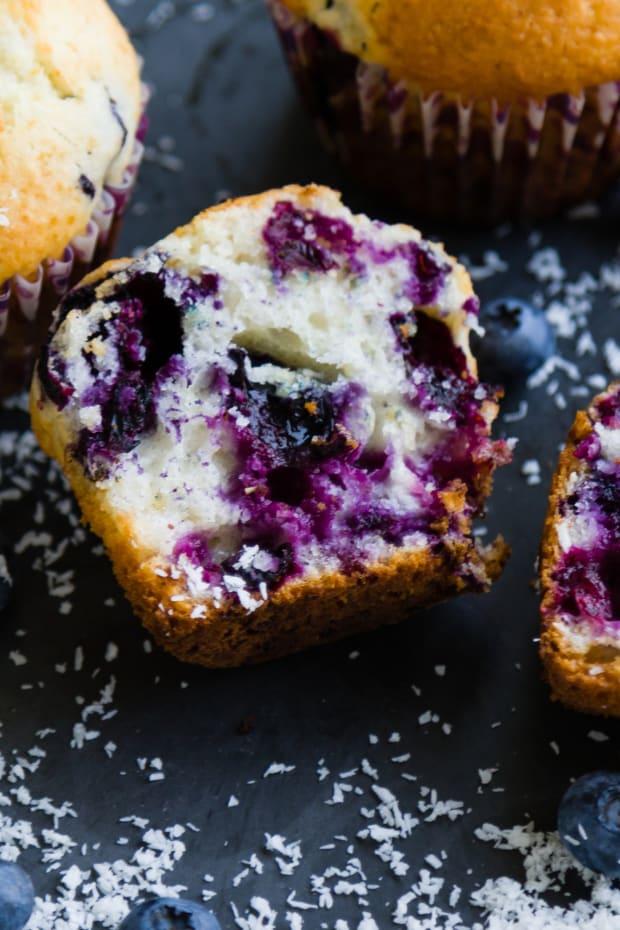 Hearty Lemon Blueberry Corn Muffins