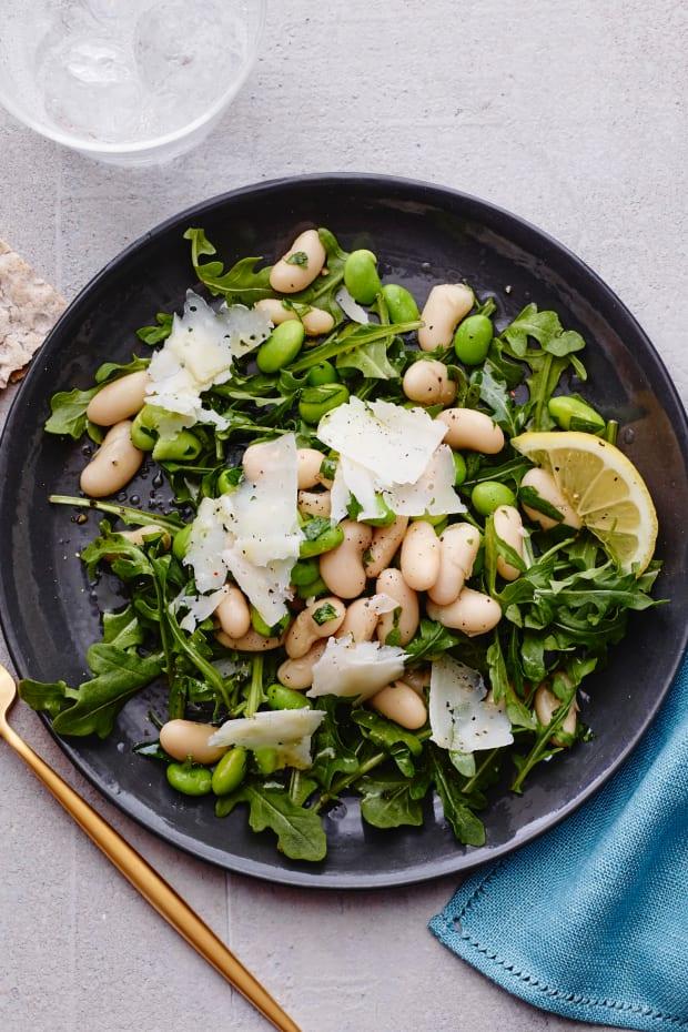 edamame white bean salad