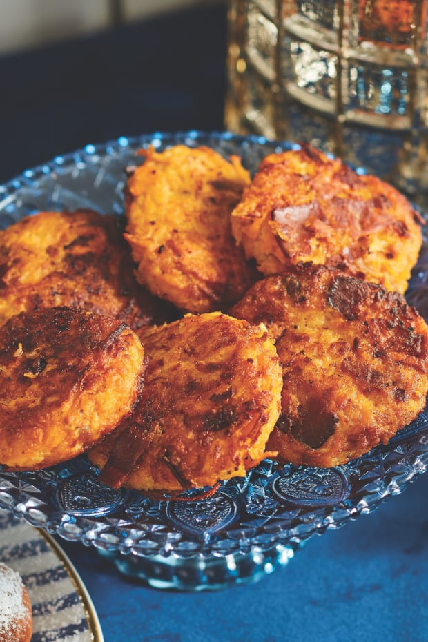 Sweet Potato Latkes with Turkey Bacon