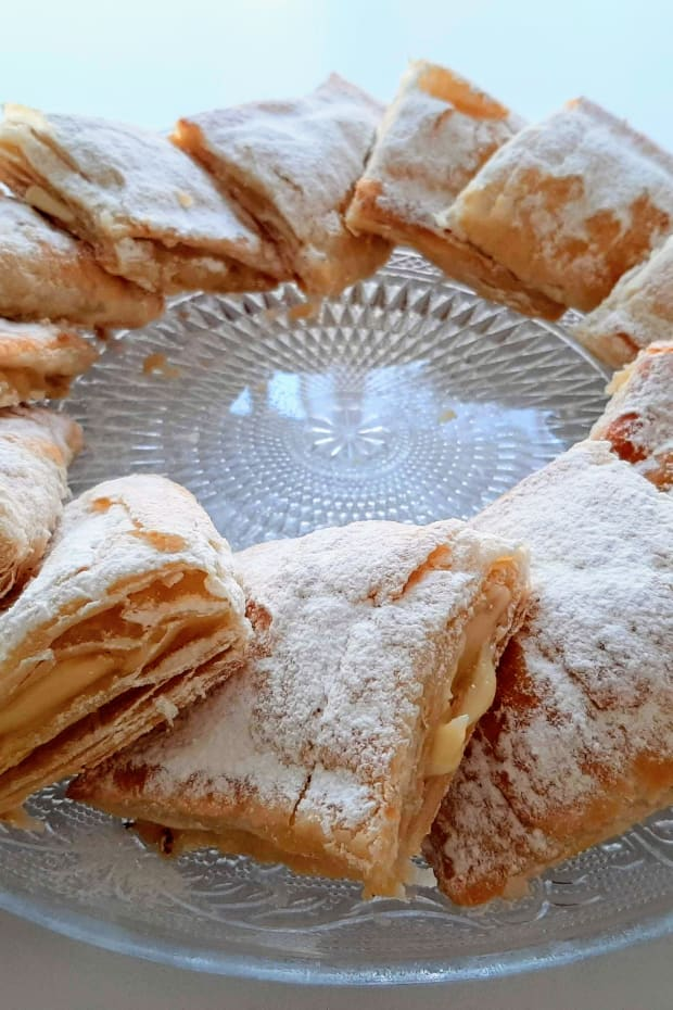Sweet Vanilla Cream Filled Borekas