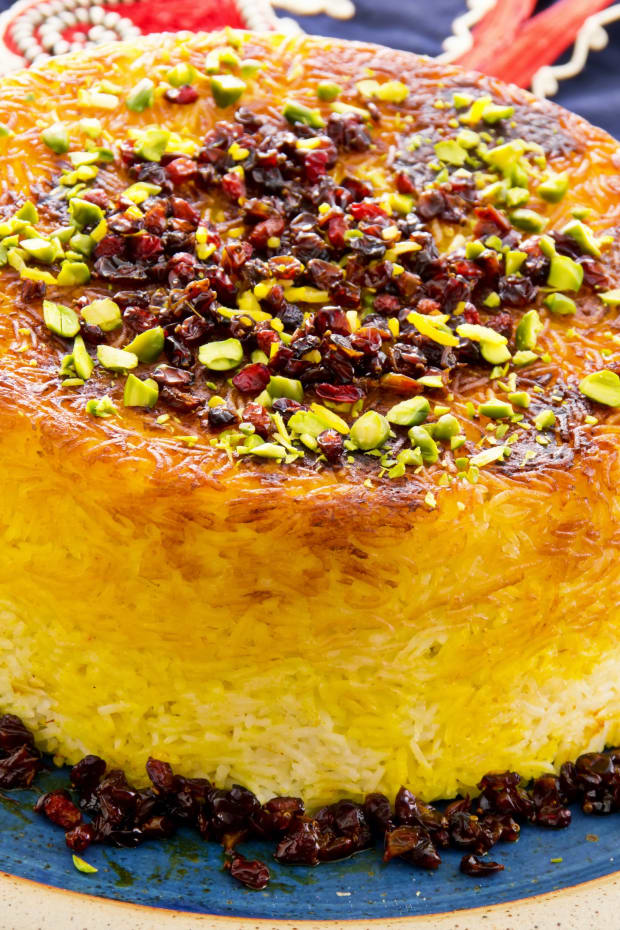 Vegetarian Tahchin Persian Rice