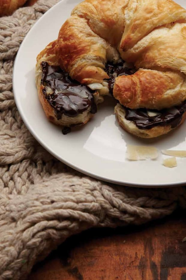 Chocolate Parmesan Croissant Panini