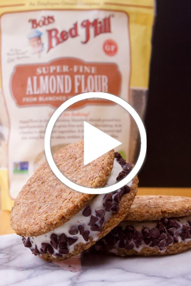 Non Diary Gluten Free Ice Cream Sandwiches Featured