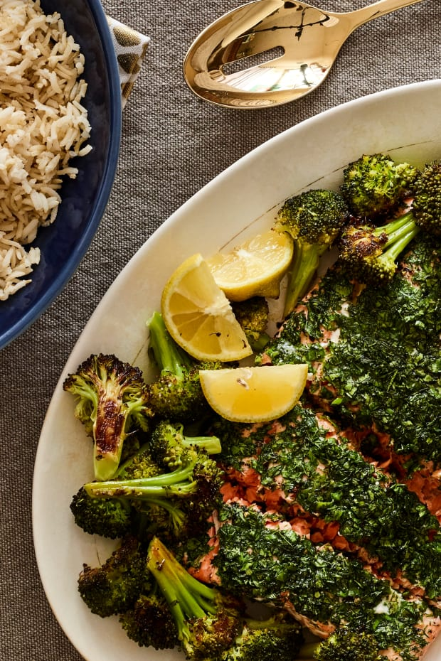 Herby Salmon and Rice