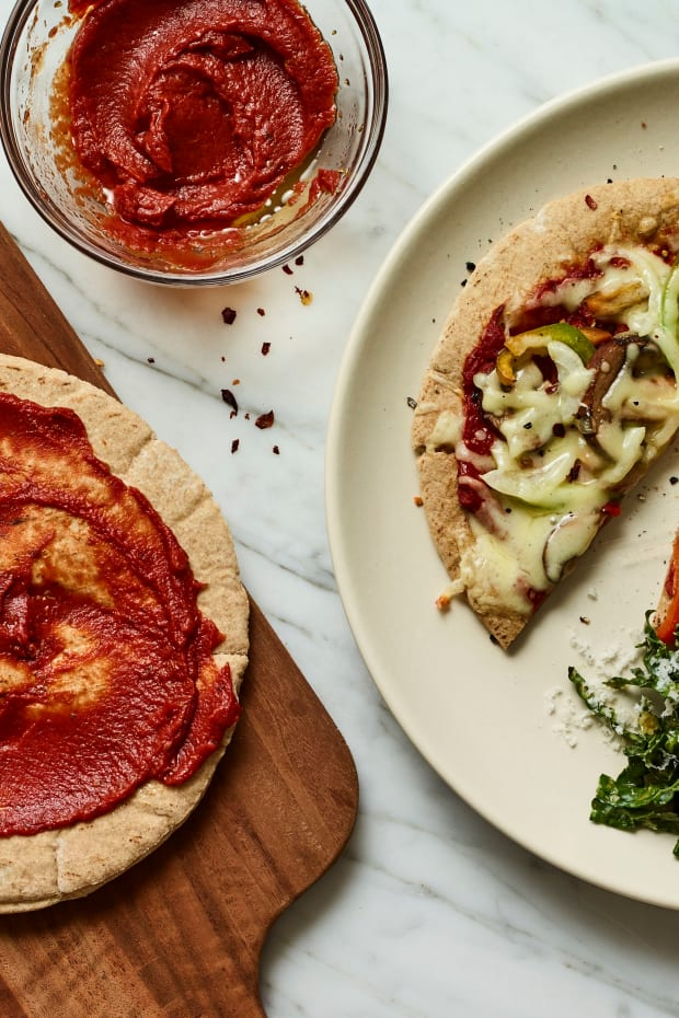DIY Personal Pizza with Kale Caesar