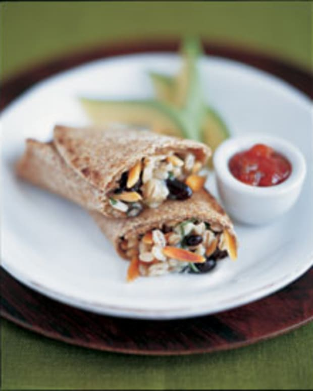 Black Bean and Barley Burrito