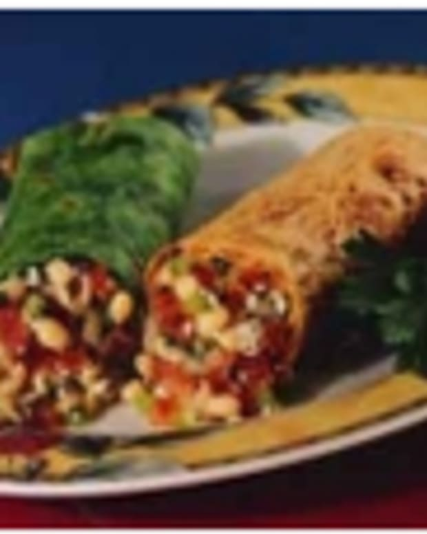 Flip-Over Bean and Feta Wrap