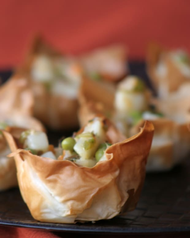 Chili-Spiked Potatoes in Phyllo cups