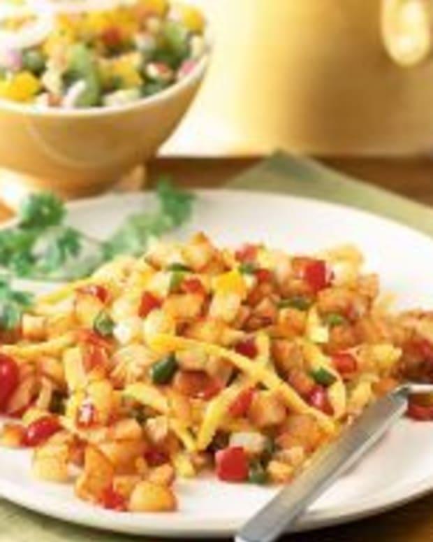 Crispy Southwest Home Fries With Fresh Fruit Salsa