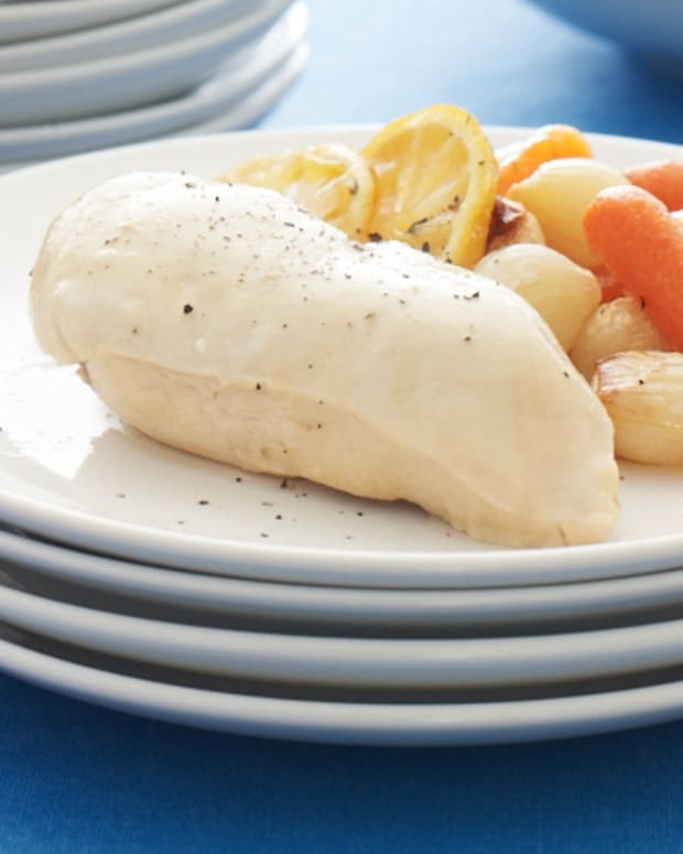 Passover Seder Lemon and Wine Poached Chicken