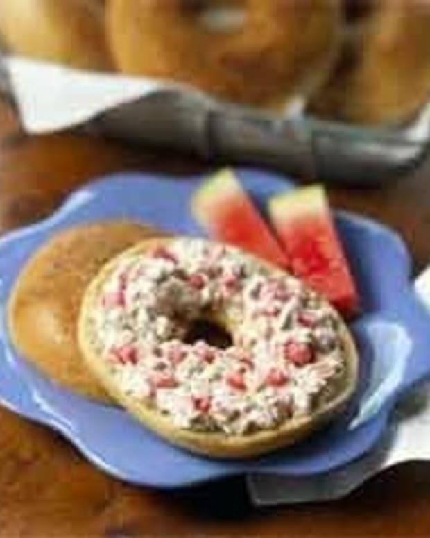 Watermelon Walnut Bagel Spread