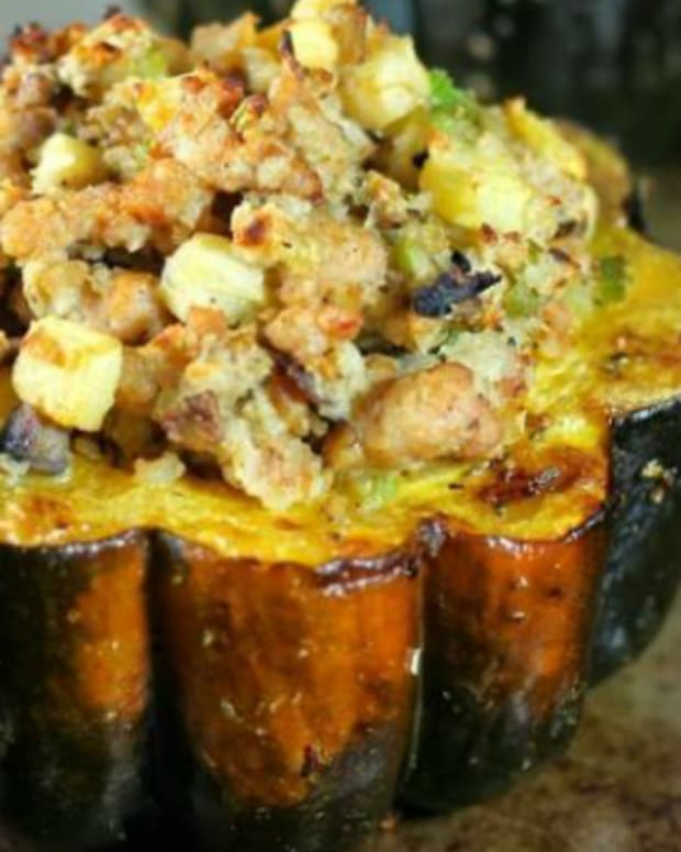 Acorn Squash with Italian Duck Sausage wide