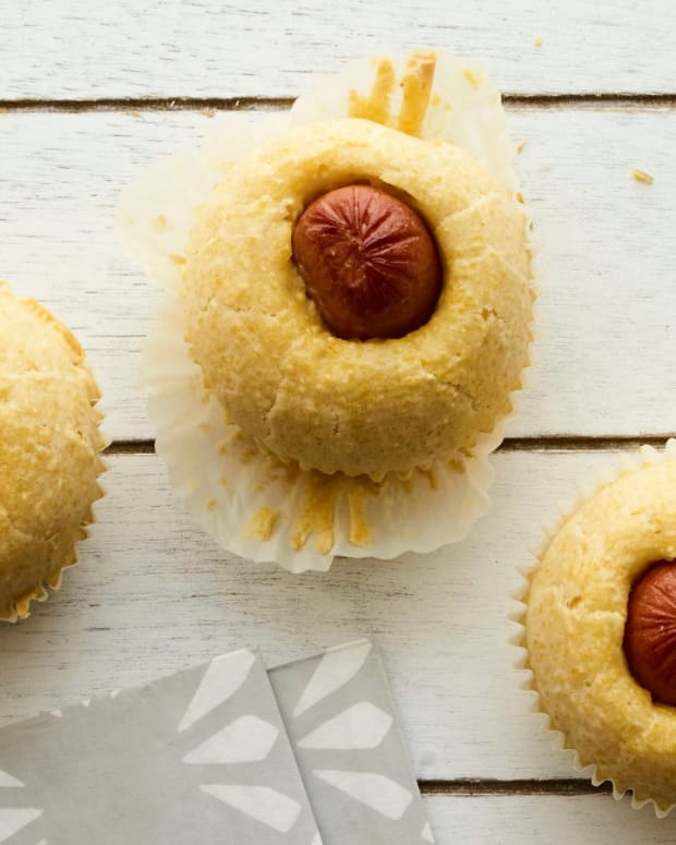 Corn Dog Muffins horizontal