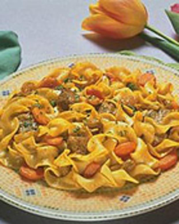 Golden Lamb Curry Noodles