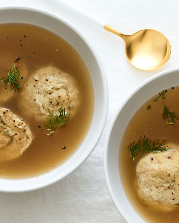 Chicken Stuffed Matzo Balls