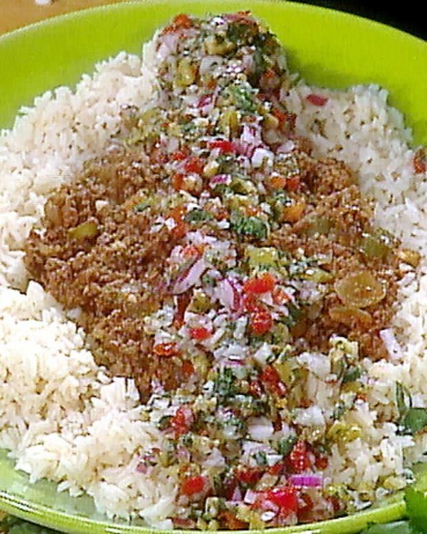 Spanish-Style Beef & Rice Casserole