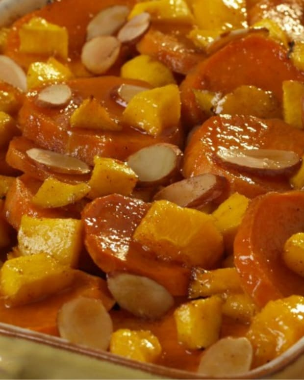Mango and Almond Yams
