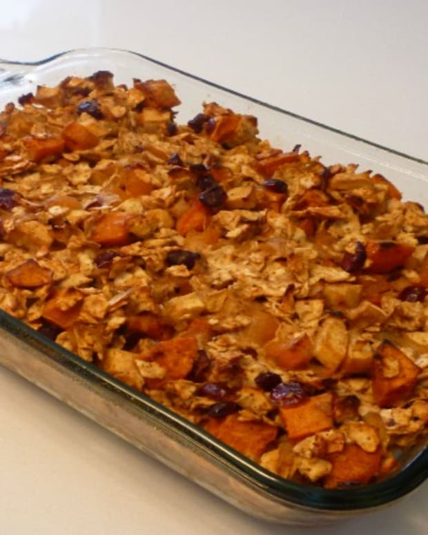 sweet potato fruit farfel stuffing