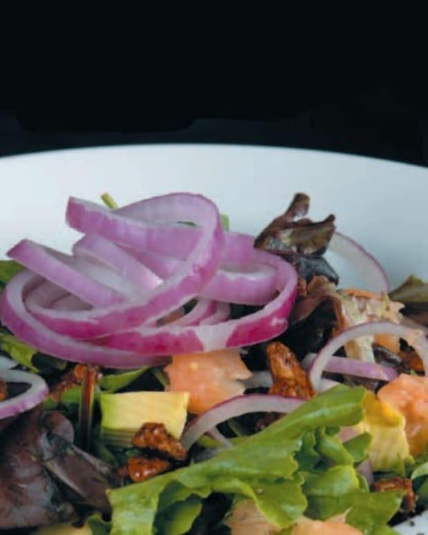 walnut shallot salad