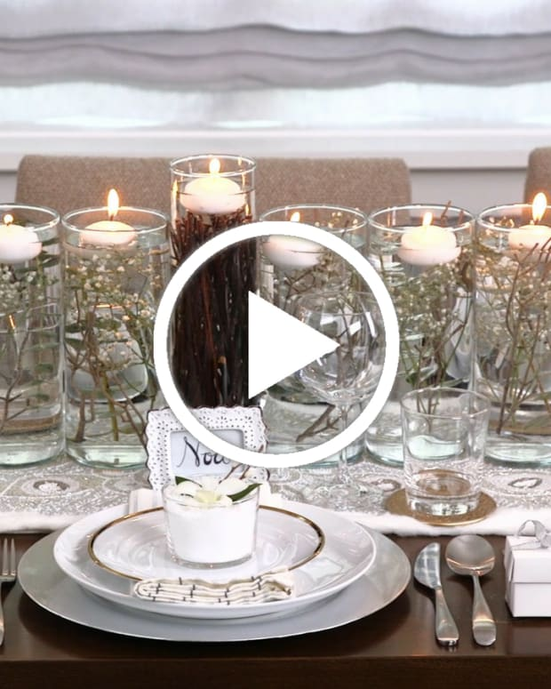 Winter Wonderland Hanukkah Table Decor