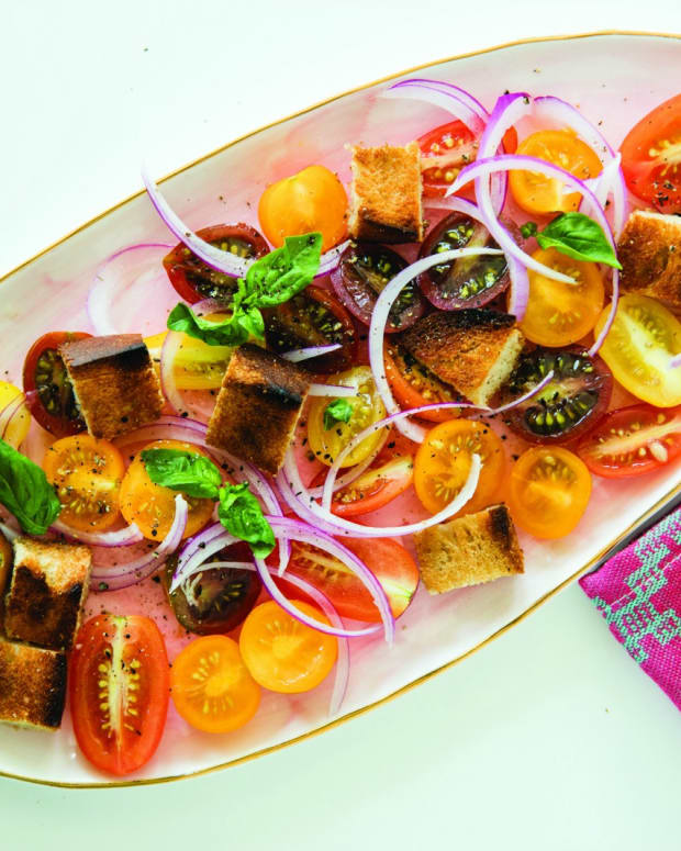 Grilled Bread Salad horizontal