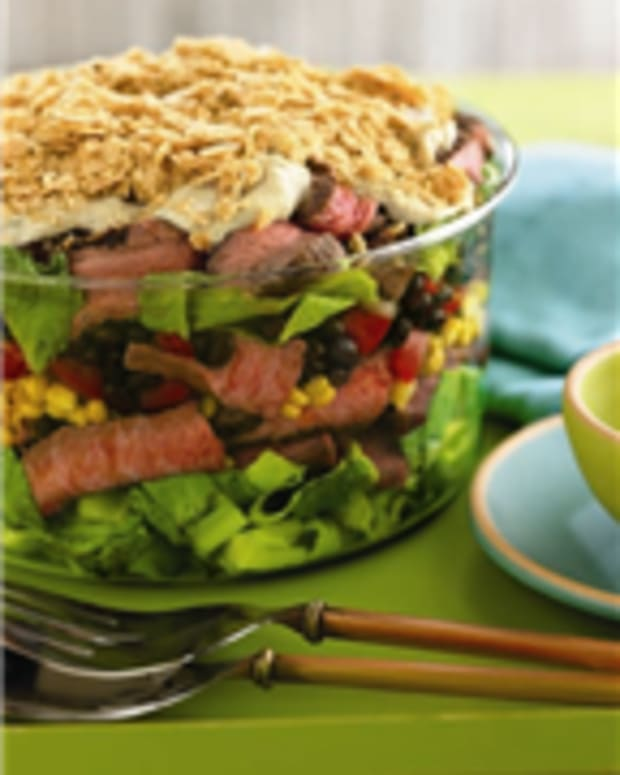 Southwest Steak and Many Layered Salad