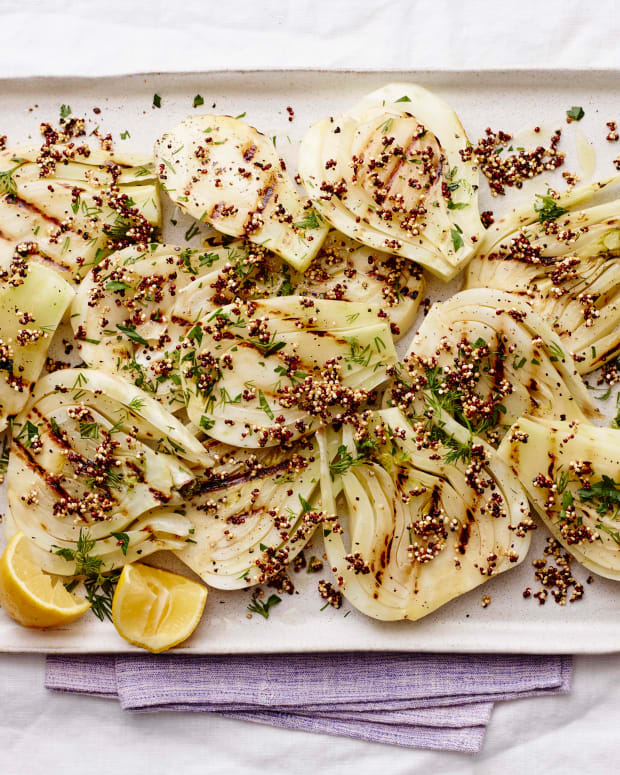 grilled fennel and quinoa