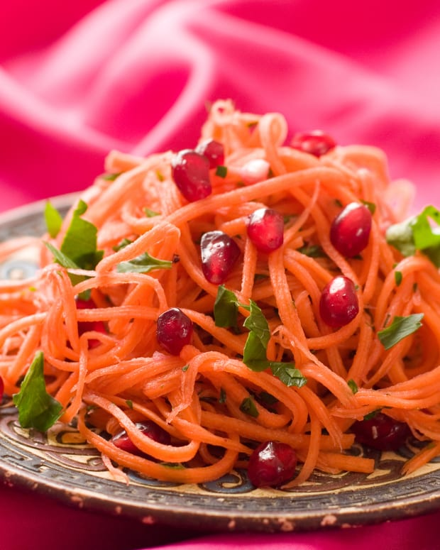 pomegranate carrot salad
