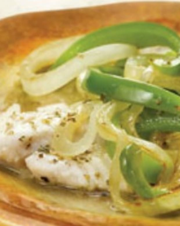 Garden-Style Fish with Onions and Bell Peppers