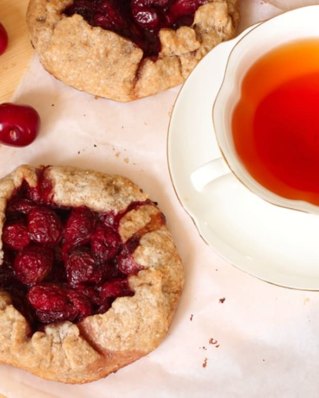 cherry and almond galette