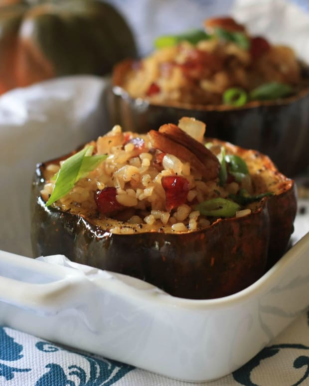Chai Roasted Acorn Squash