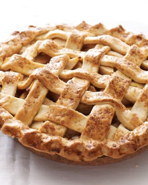 Caramel Pear Lattice Pie