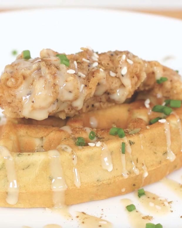 Za'atar Chicken and Falafel Waffle
