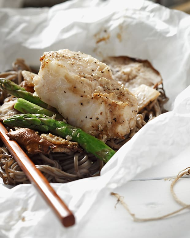 Sea bass and Noodles