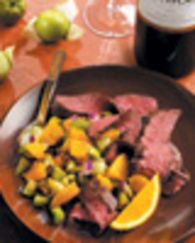 Orange-Chipotle Skirt Steaks