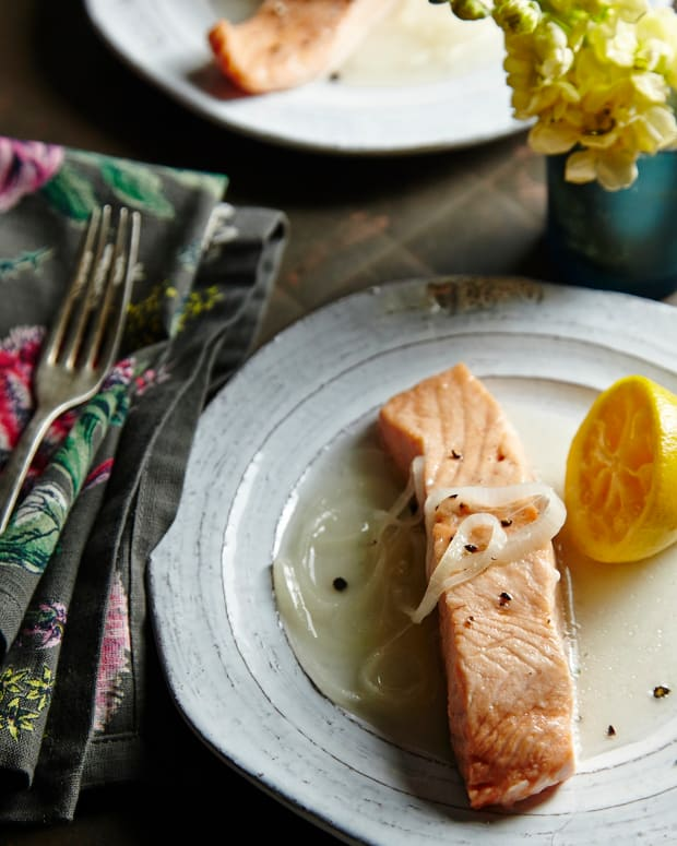 Sweet & Sour Poached Salmon