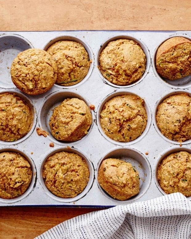 Zucchini Corn Muffins horizontal