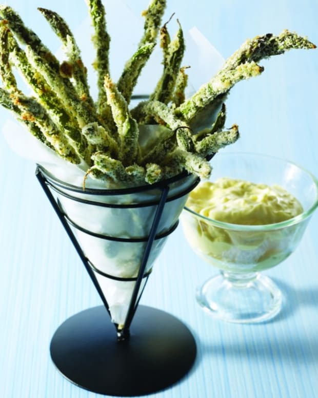 Green Bean and Asparagus Fries