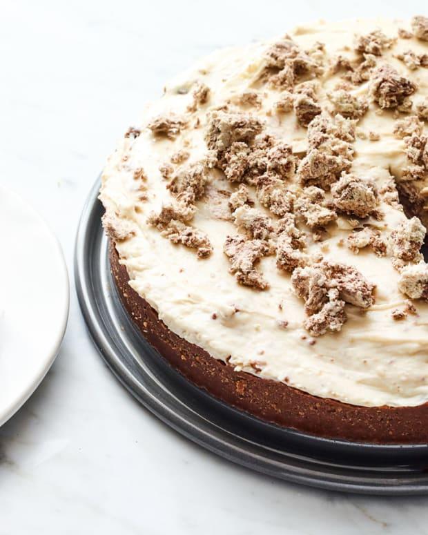 no bake halva cheesecake