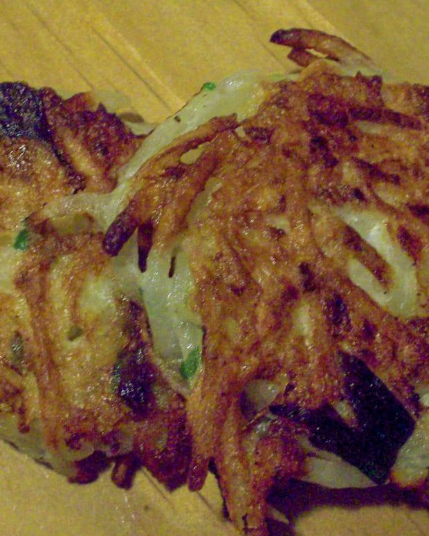 Traditional Potato Latkes with Green Onions