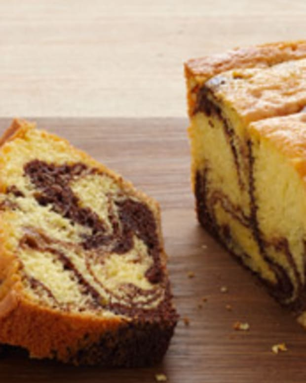 Fudge Marble Pound Cake